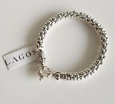 LAGOS Caviar Beaded Rope Chain Sterling Silver Bracelet NWT $395