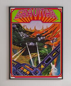 Gravitar Atari 1982 Arcade Video Game Retro Print Poster 18 x 24 inches