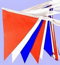 Red White & Blue Bunting 80 Flags Queen 90th Birthday Decorations Banner