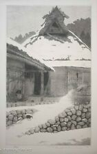 """Tanaka Ryohei Etching """"Lingering Snow"""" SCARCE & RARE! Signed, Limited Edition"""