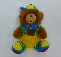 Teddy Bear Plush Stuffed Animal Suspenders Baseball Hat Bow Tie Tennis Shoes