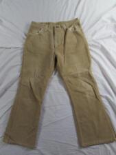 Vtg 70s Wrangler Brushed Sueded Cotton Flare Leg Pant 32x26 Usa Made Bell Bottom
