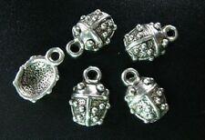 40pcs Tibetan Silver Ladybug Charms 14.5x10mm R215