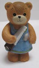 Enesco Lucy and Me ceramic Figurine Boy Bear Carpenter with Saw & Hammer copyrig