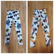 Bnowt ASOS Femmes/Adolescentes Blanc Batman Imprimé Legging Fashion-Taille 8-10?