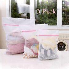 3Pcs Mesh Laundry Bag Wash Bags Bra Delicates Lingerie (Large & &Middle & Small)