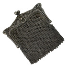 Tiny Antique Depose French Sterling Silver Mesh Coin Purse Art Nouveau Repair