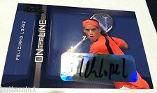 FELICIANIO LOPEZ 2007 Ace Authentic AUTOGRAPH Card SP On The Line AUTO TENNIS