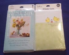 2 NIP HALLMARK Easter Cards UNOPENED 16 Cards Total