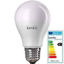 10x Lumira LED E27 Lampe 10W, wie 75W Glühbirne A60 Leuchte Birnenform, Warmweiß