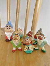 Vintage Sieben Zwerge Figur Set Walt Disney Prod. Handbemalt 60er/70er Selten!