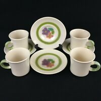 Set of 4 VTG Cups and Saucers by Franciscan Floral Earthenware California USA