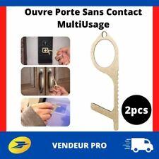 2pcs Ouvre Porte Sans Contact Crochet pour Toucher Surface Sans les Mains