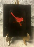 MCM VINTAGE COUROC OF MONTEREY CARDINAL BIRD SERVING TRAY