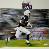 Autographed/Signed MILES SANDERS Inscribed Penn State 11x14 Photo JSA COA Auto