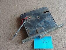 Old Antique Rim Lock Set Skeleton Key Mortise Box Hardware Restoration Salvage 2