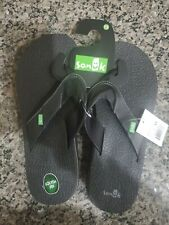 Sanuk Mens Size 13 Black Beer Cozy Beach SMS2839 Casual Flip Flop Sandals