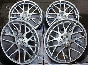 "19"" Silver DTM Alloy Wheels Fits BMW 1 + 3 Series E36 E46 E90 E91 E92 Z3 Z4 WR"