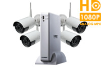 Lorex HD Security Camera System with 1080p Cameras 130ft Night Vision, 1TB, 4 Ch