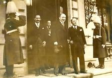 Bucarest, Yvon Delbos et M. Antonescu Vintage silver print Tirage argentique