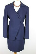 Christian Dior Vintage Two-Piece Navy Power Suit World Wide Free Postage