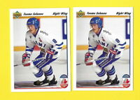 36191 TEEME SELANNE LOT OF 2 1991/92 UPPER DECK ROOKIE CARDS #21