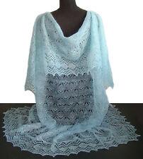 Chale Bleu idée Cadeau pour femme Chale bleu chale russe Orenbourg Tricoté main