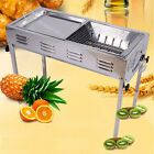 NEW Stainless Steel Household Portable Charcoal BBQ Grill Set Picnic Camping