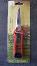 Sécateur métal 19 cm, SECATEUR VENDANGE FORGE, sécateur manche métal poids 167 g