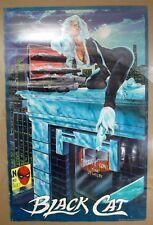 1986 Marvel Felicia Hardy aka Black Cat Jewelry Heist Poster 22x34 Joe Jusko Art
