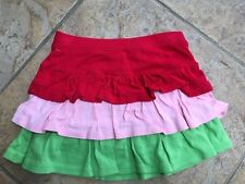 Gymboree WATERMELON PICNIC EUC 5 Pink/red/green tiered skort Vintage