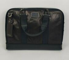 TUMI Alpha Bravo Andrews Slim Leather Brief Laptop Bag