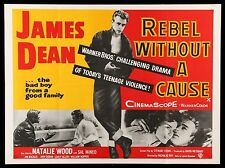 REBEL WITHOUT A CAUSE * CineMasterpieces ORIGINAL MOVIE POSTER 1955 JAMES DEAN