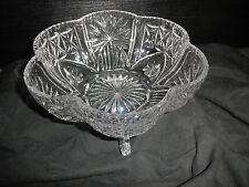 SCHALE Kristallglas ? Glasschale Bonbonschale Konfekt Servierschale m. Fuß groß