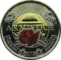 2018 Canada $2 Poppy Coin  Armistice 100 Years Remembrance Day