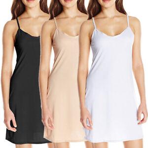 Ladies Lingerie Under Dress Full Slip Petticoat Underskirt UK 6 8 10 12 14 16