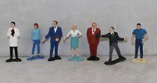 "James Bond Gilbert 1965 1960's 3"" Statue Playset Figures Set x7"