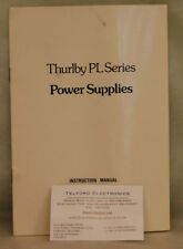 Thurlby PL Series Power Supplies Instruction Manual