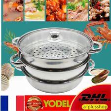 Cuiseur Vapeur Accessoire à 3 niveaux en Acier Inox Cuisinière Pot Pan Sain DHL