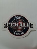 COMBAT FEMALE VETERAN sticker.Made by a Disabled Veteran