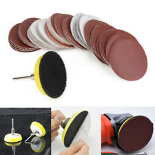 60X 50mm Mixed Grade Sanding Disc Drill Angle Grinder Mount Rubber Backing Pads