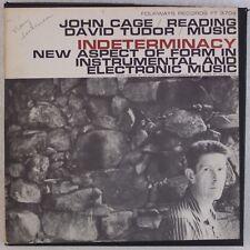 JOHN CAGE, JOHN TUDOR: Indeterminacy FOLKWAYS 2x LP Electronic BOX w/ Insert
