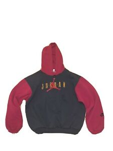 NIKE AIR JORDAN 90s VTG Embroidered Hoodie Youth L COLORBLOCK 14-16