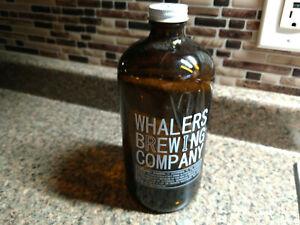 Whalers Rhode Island Beer Crowler Growler Glass Bottle Brewery Microbrew Empty