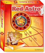 Red Astro 8.0 Professional - English / Hindi Astrology Horoscope Software CD