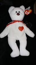 Vintage white Valentino TY Beanie Baby - NWT - Misspelled Tag and PVC Pellets