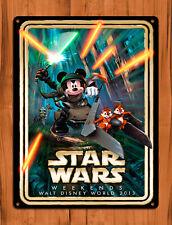 "TIN SIGN ""Star Wars Mickey"" Disney Ride Mouse Wall Decor"