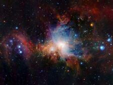 Space Infrared View Orion Nebula Picture Canvas Art Print