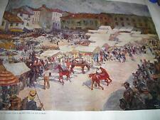 FOLKLORE_ARTE_ANIMATA SCENA DI MERCATO_MONZA_PIAZZA MERCATO_1910_ARTE_CAPROTTI