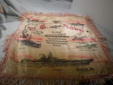 WWII US Navy USN Mother Norfolk VA Pillow Sham Cover Battleship Destroyer Subs